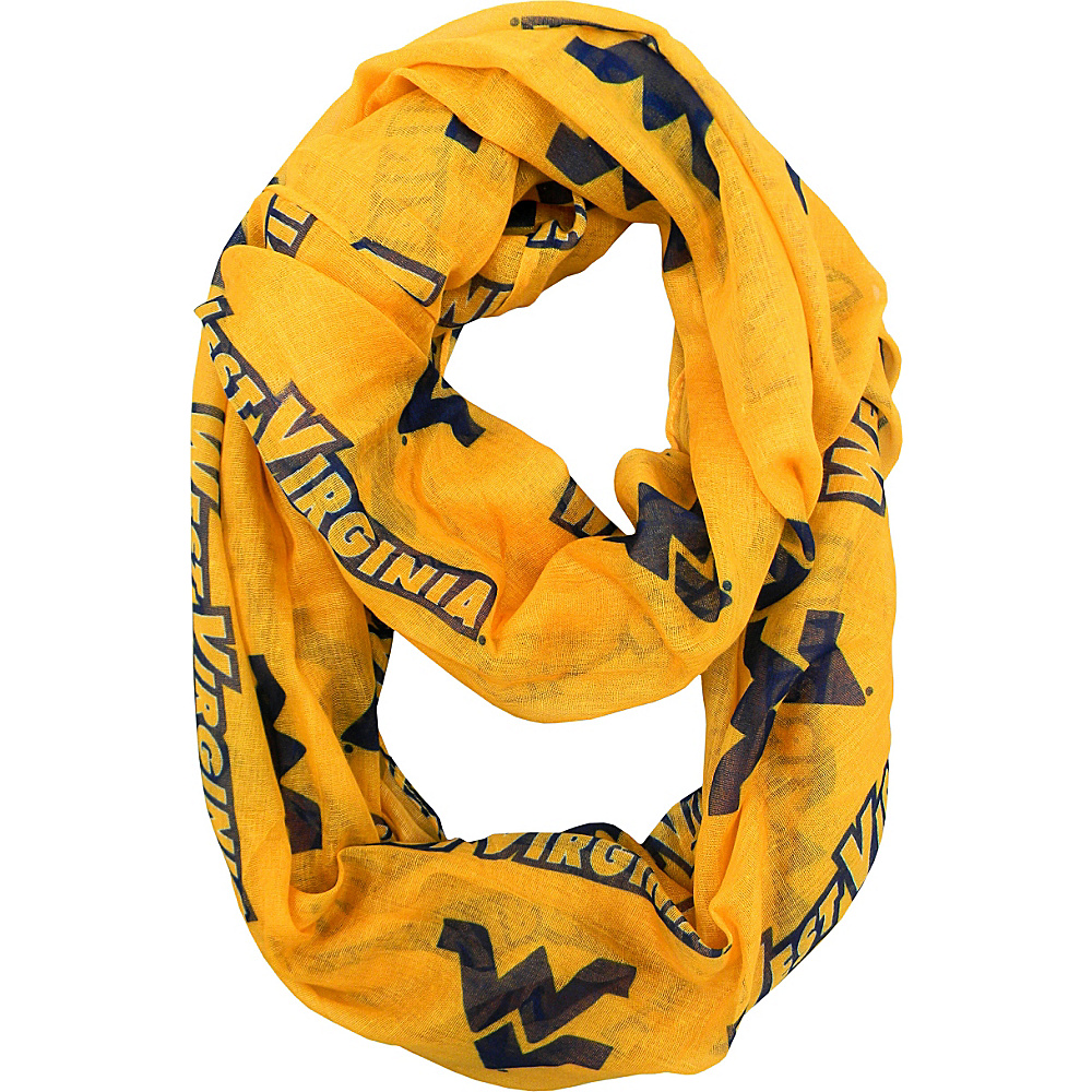 Littlearth Sheer Infinity Scarf Alternate - Big 12 Teams West Virginia University - Littlearth Hats/Gloves/Scarves - Fashion Accessories, Hats/Gloves/Scarves