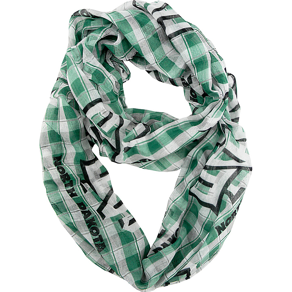 Littlearth Sheer Infinity Scarf Plaid - Big Sky Conference Teams North Dakota, U of - Littlearth Hats/Gloves/Scarves - Fashion Accessories, Hats/Gloves/Scarves