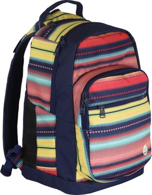 Roxy Backpacks Grand Thoughts Laptop Backpack Jagged Stripe - Roxy Backpacks Laptop Backpacks