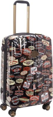Harley Davidson by Athalon 25 inch Molded CarryOn with Spinners Vintage - Harley Davidson by Athalon Hardside Checked