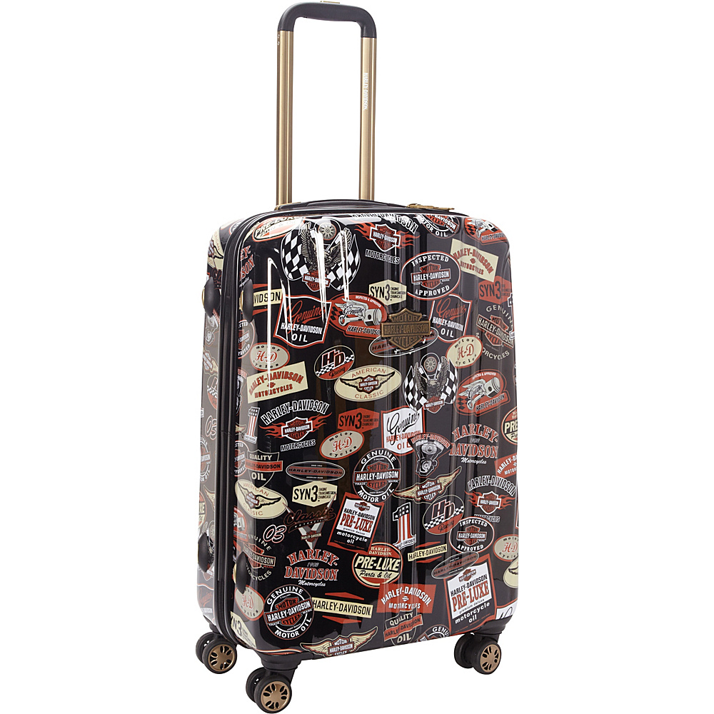 "Harley Davidson by Athalon 25"" Molded CarryOn with Spinners Vintage - Harley Davidson by Athalon Hardside Checked"
