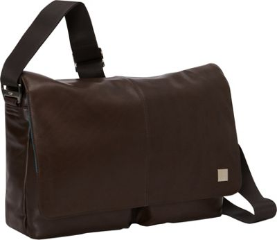 KNOMO London Kobe Messenger Brown - KNOMO London Messenger Bags