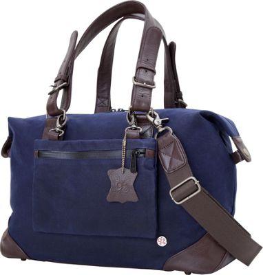 TOKEN Lafayette Waxed Duffel Bag (S) Navy - TOKEN Rolling...