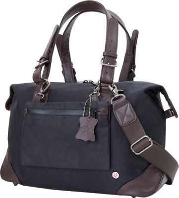 TOKEN Lafayette Waxed Duffel Bag (S) Black - TOKEN Rollin...