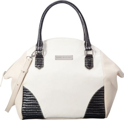 Adrienne Landau Ibiza Nolita Satchel White - Adrienne Landau Leather Handbags