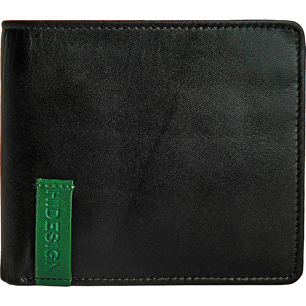 Hidesign Dylan 04 Leather Slim Bifold Wallet Black Hidesign Men s Wallets