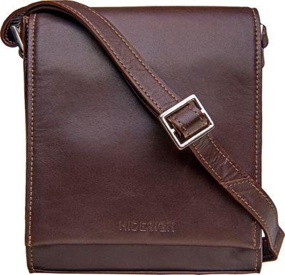 Hidesign Nico Leather Cross Body Brown - Hidesign Leather Handbags
