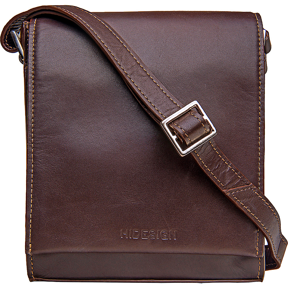 Hidesign Nico Leather Cross Body Brown Hidesign Leather Handbags
