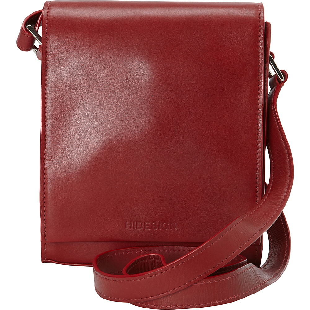 Hidesign Nico Leather Cross Body Red Hidesign Leather Handbags