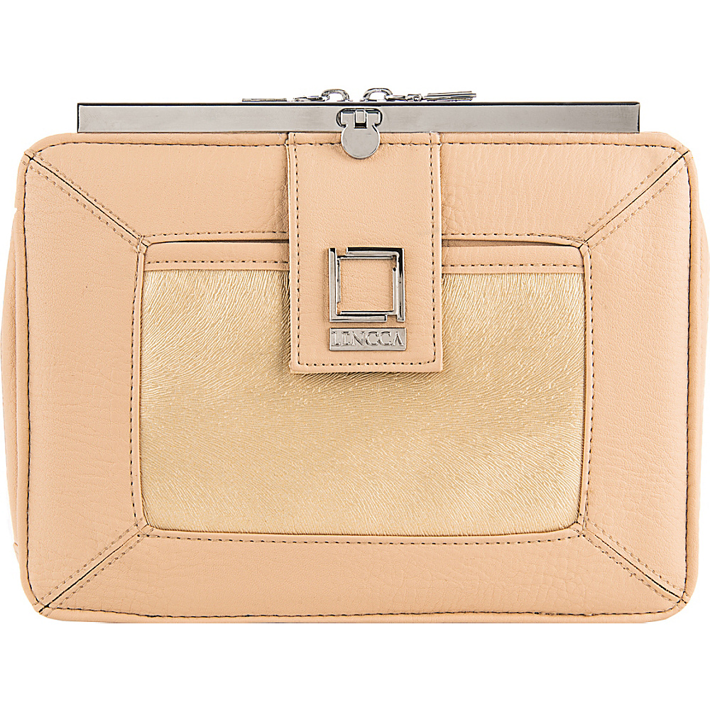 Lencca Esvivina Crossbody Shoulder Bag Cream Gold Lencca Manmade Handbags