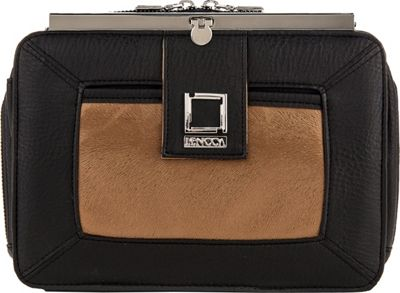 Lencca Esvivina Crossbody Shoulder Bag Black / Copper - Lencca Manmade Handbags