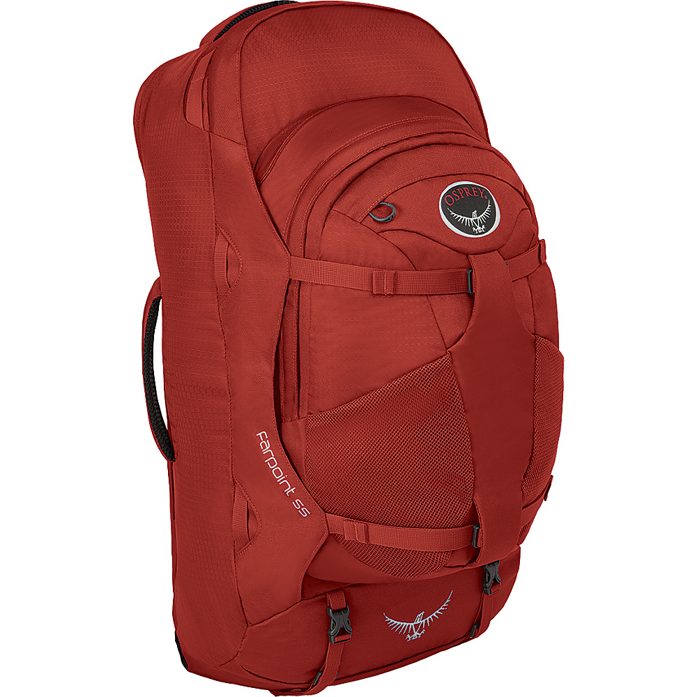 Osprey Farpoint 55 Travel Laptop Backpack Jasper Red - S/M - Osprey Travel Backpacks - Backpacks, Travel Backpacks