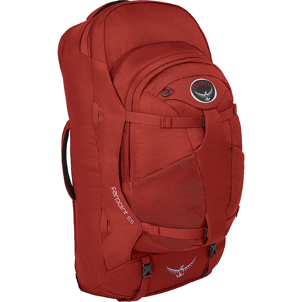 Osprey Farpoint 55 Backpack Jasper Red - M/L - Osprey Day Hiking Backpacks - Outdoor, Day Hiking Backpacks