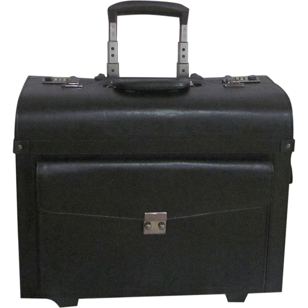 AmeriLeather Amerileather Pilot/Catalog Case Black - AmeriLeather Wheeled Business Cases - Work Bags & Briefcases, Wheeled Business Cases