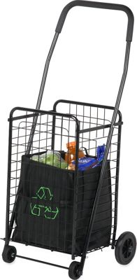 Honey-Can-Do Honey-Can-Do Rolling 4 Wheel Utility Cart Black - Honey-Can-Do Luggage Accessories