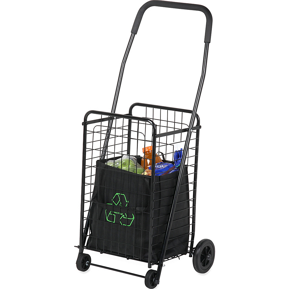 Honey Can Do Rolling 4 Wheel Utility Cart Black Honey Can Do Luggage Accessories