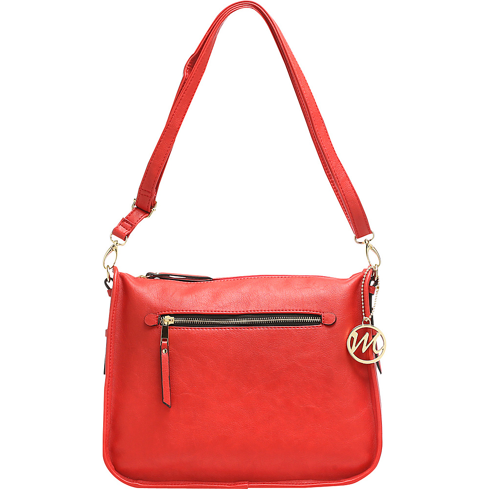 Emilie M Alana Hobo Red Emilie M Manmade Handbags