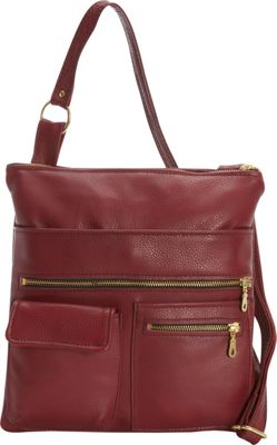 Victoria Leather Deb Crossbody Marsala - Victoria Leather Leather Handbags