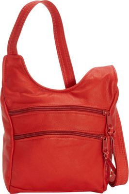 Victoria Leather Piccadilly Crossbody Red - Victoria Leather Leather Handbags