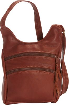 Victoria Leather Piccadilly Crossbody Cognac - Victoria Leather Leather Handbags