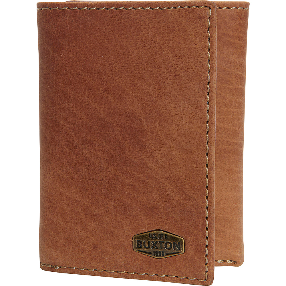Buxton Expedition RFID Three-Fold Wallet Saddle - Buxton Mens Wallets - Work Bags & Briefcases, Men's Wallets