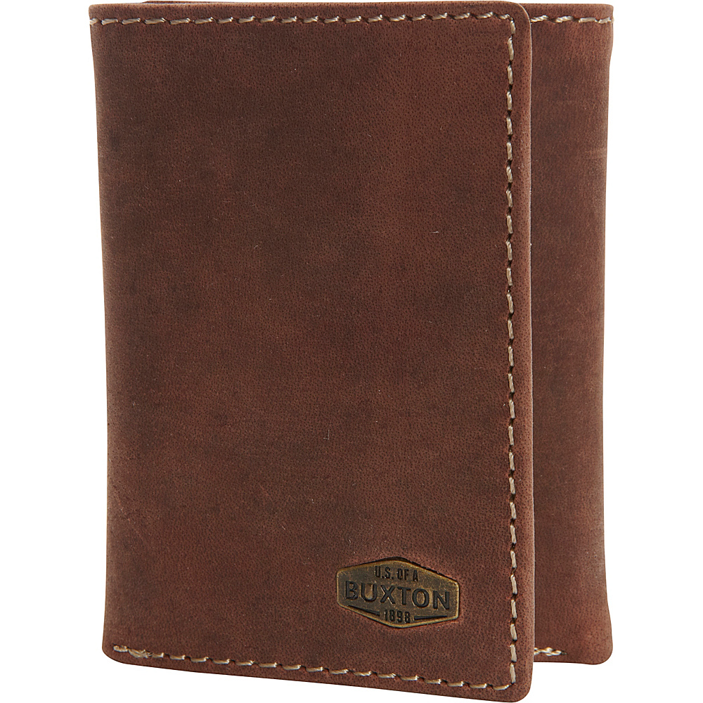 Buxton Expedition RFID Three-Fold Wallet Walnut - Buxton Mens Wallets - Work Bags & Briefcases, Men's Wallets