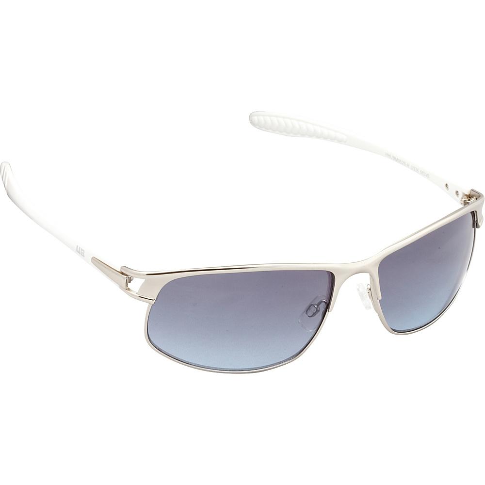 Unionbay Eyewear Metal Rectangle Sunglasses Matte Silver Blue Unionbay Eyewear Sunglasses
