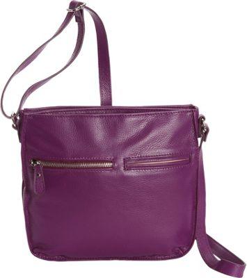 Bella Handbags Mariella Crossbody Grape - Bella Handbags Leather Handbags