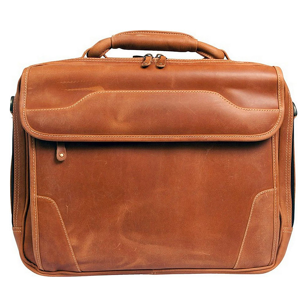 "Canyon Outback Dakota Pines 15"" Leather Computer Briefcase Distressed Tan - Canyon Outback Non-Wheeled Business Cases"