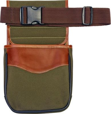 Canyon Outback Buckskin Gulch Leather and Canvas Shell Bag Green - Canyon Outback Other Sports Bags