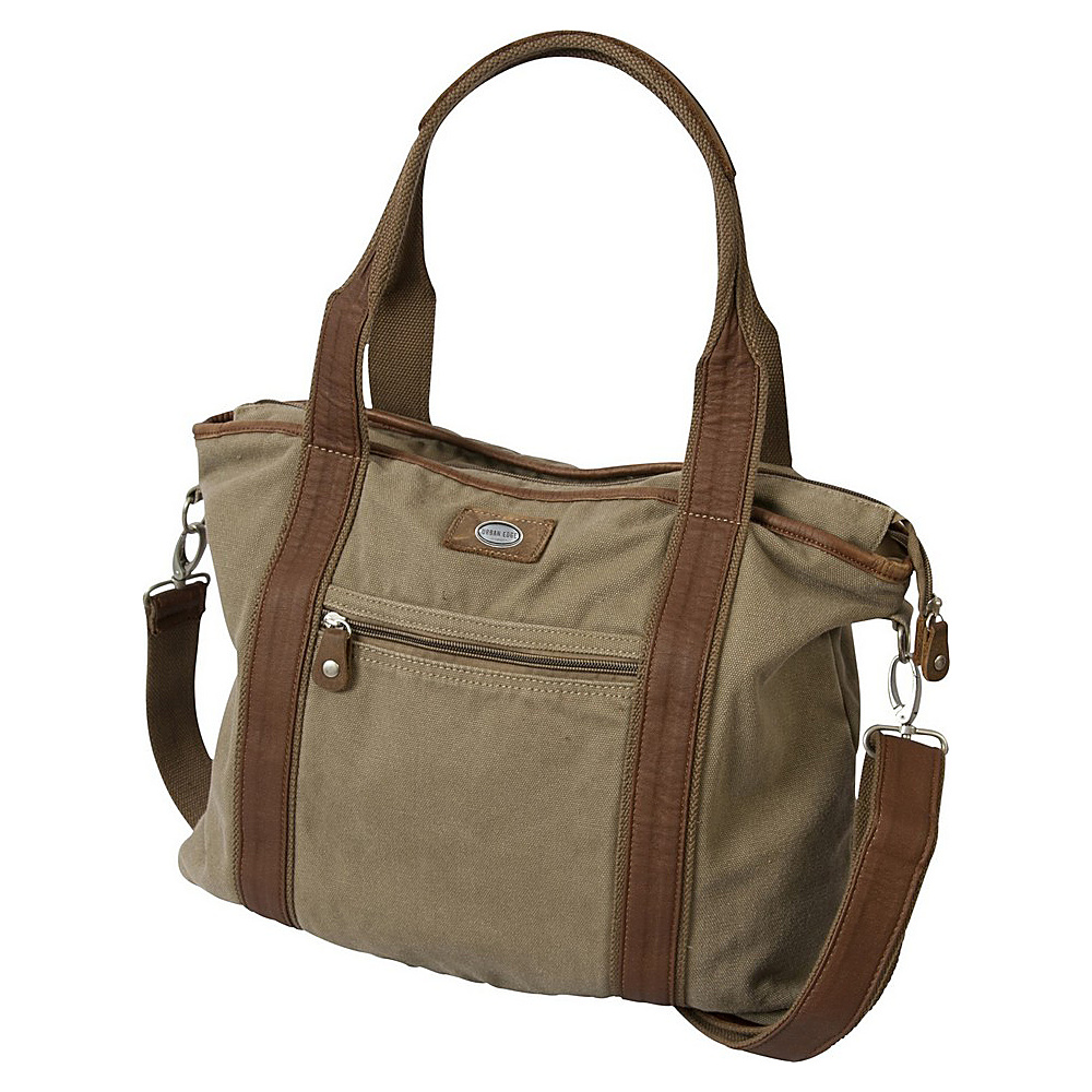 Canyon Outback Urban Edge Tucker 17-inch Canvas Tote Bag Washed Green - Canyon Outback All-Purpose Totes