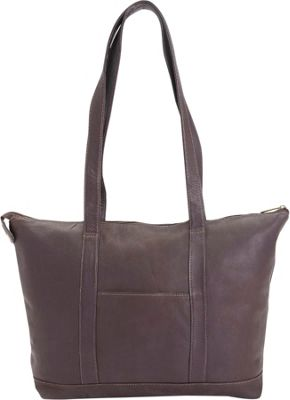 Royce Leather Colombian Leather 24 Hour Women's Travel Tote Bag Café - Royce Leather Non-Wheeled Business Cases