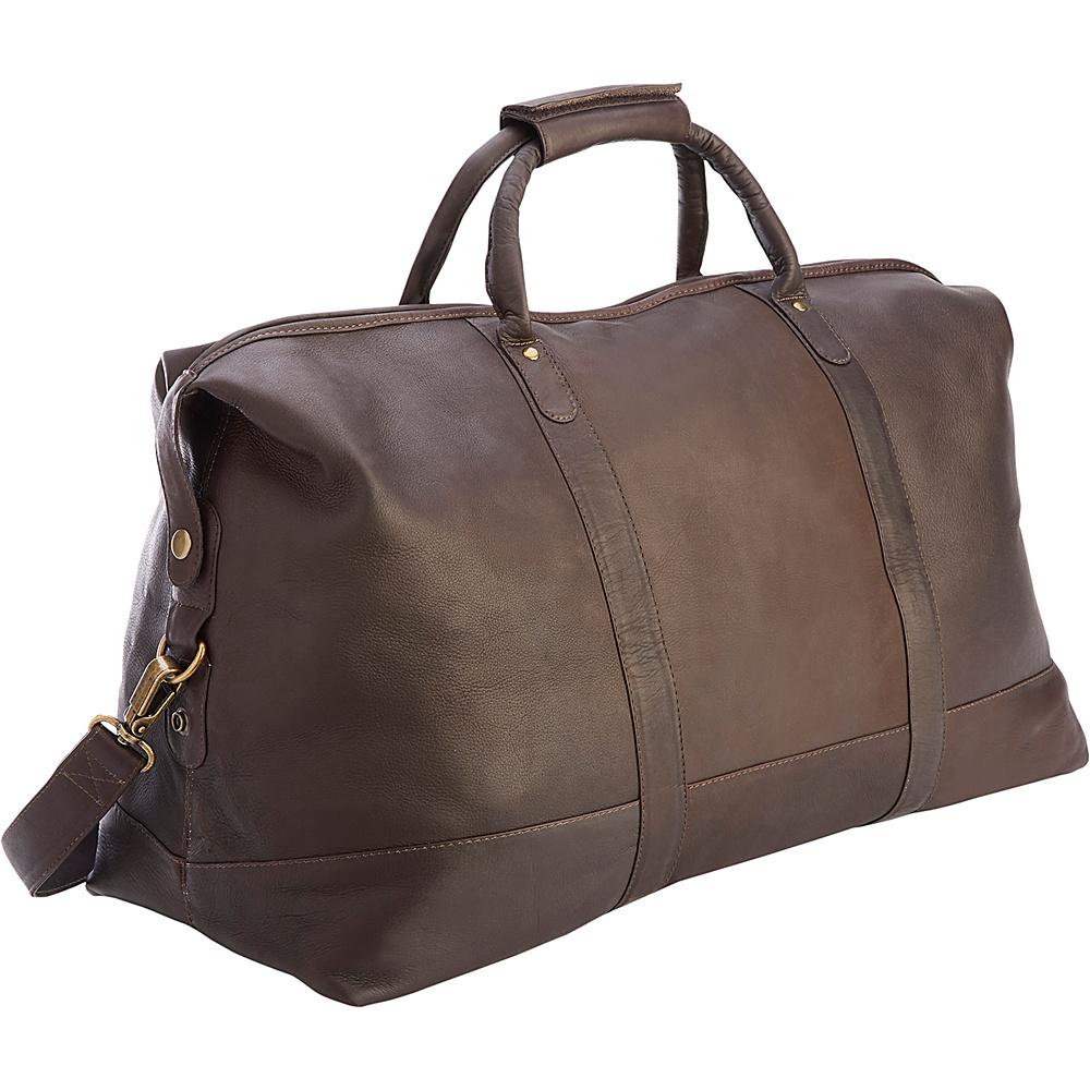 Royce Leather Luxury Colombian Leather Duffel Bag Cafe - Royce Leather Rolling Duffels - Luggage, Rolling Duffels