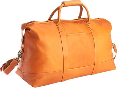 Royce Leather Luxury Colombian Leather Duffel Bag Tan - R...