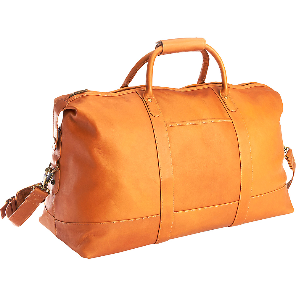 Royce Leather Luxury Colombian Leather Duffel Bag Tan - Royce Leather Rolling Duffels - Luggage, Rolling Duffels