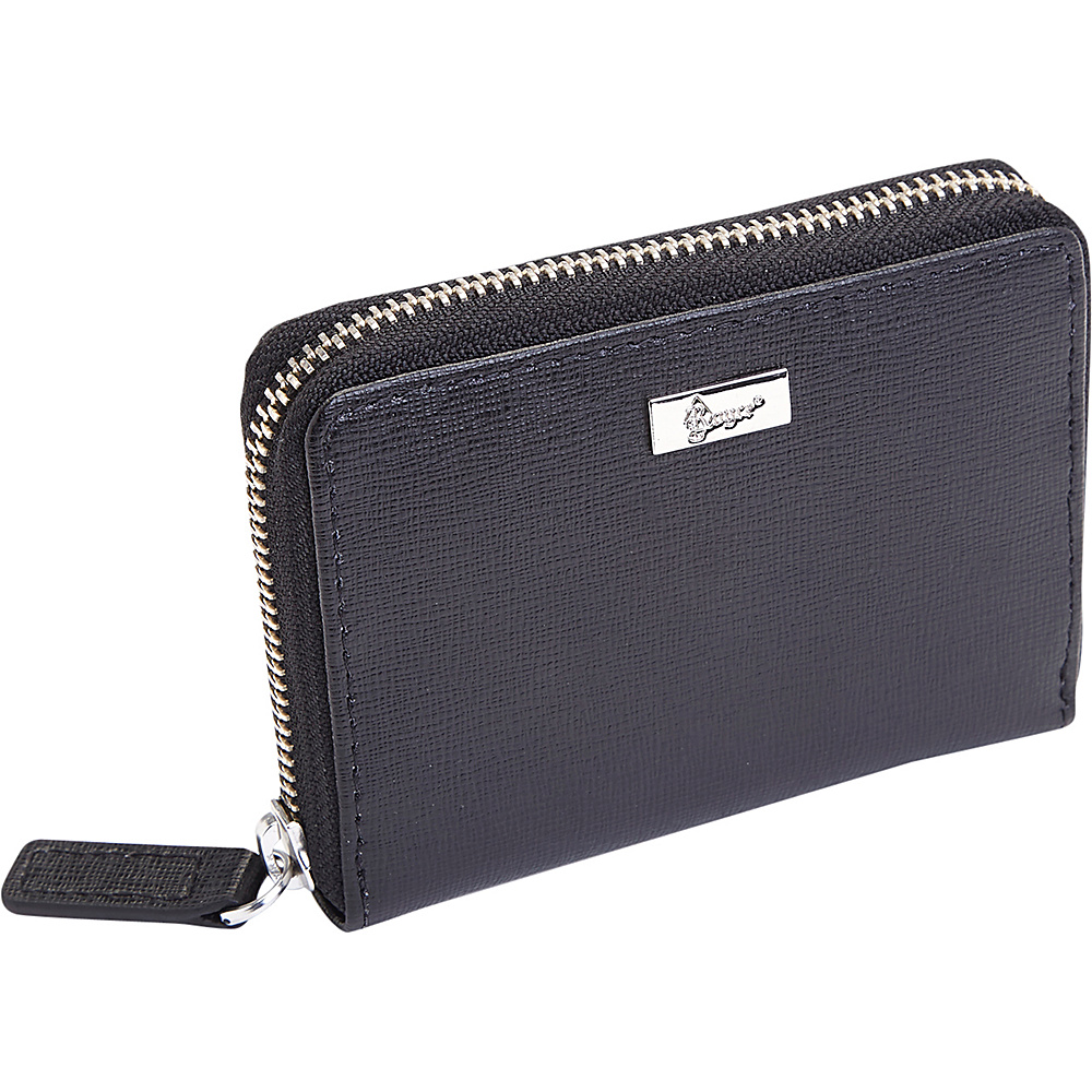 Royce Leather Mini Fan RFID Blocking Wallet Black - Royce Leather Womens Wallets - Women's SLG, Women's Wallets