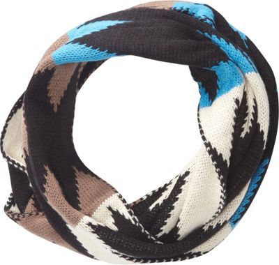 Jessica McClintock Scarves Multi Color Knit Infinity Scarf Black - Jessica McClintock Scarves Hats/Gloves/Scarves