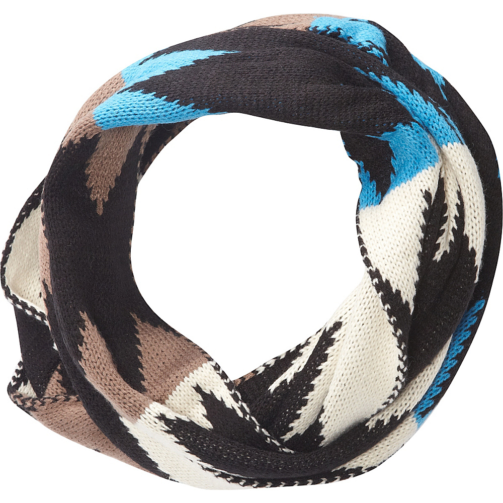 Jessica McClintock Scarves Multi Color Knit Infinity Scarf Black - Jessica McClintock Scarves Hats/Gloves/Scarves