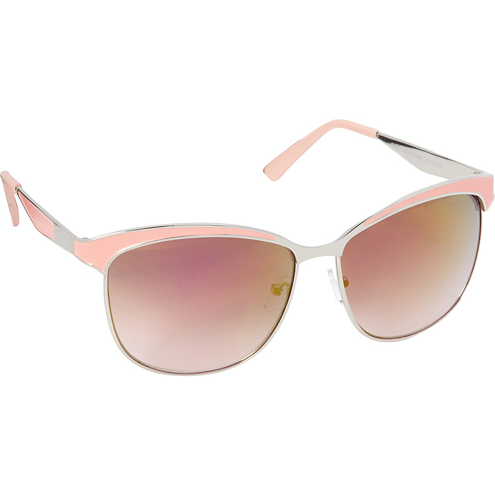 Circus by Sam Edelman Sunglasses Cat Eye Sunglasses Silver Pink Circus by Sam Edelman Sunglasses Sunglasses