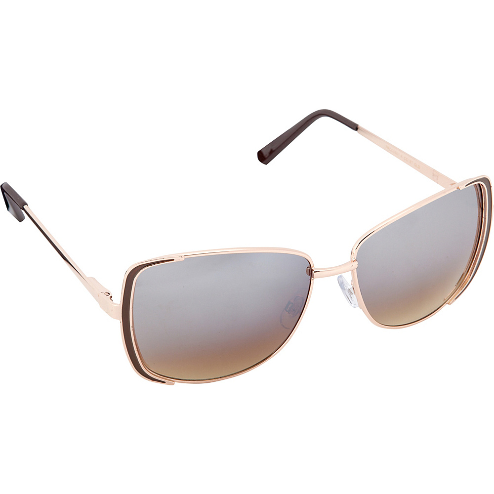 Circus by Sam Edelman Sunglasses Rectangle Sunglasses Gold Brown Circus by Sam Edelman Sunglasses Sunglasses
