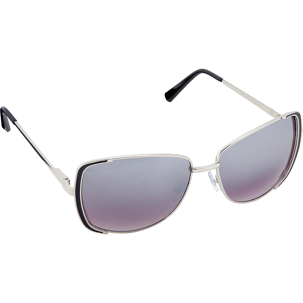 Circus by Sam Edelman Sunglasses Rectangle Sunglasses Silver Black Circus by Sam Edelman Sunglasses Sunglasses