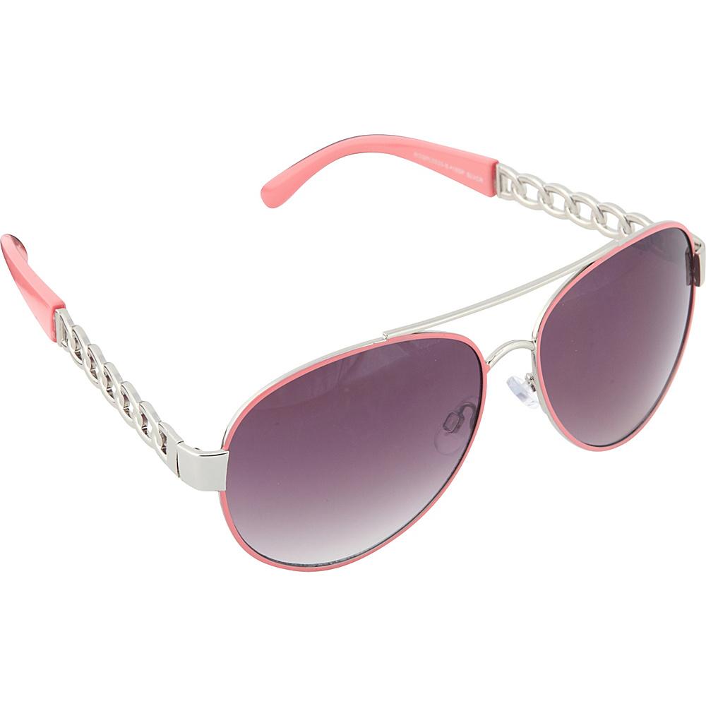 SouthPole Eyewear Metal Aviator Sunglasses Silver Coral SouthPole Eyewear Sunglasses