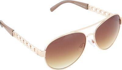 SouthPole Eyewear Metal Aviator Sunglasses Gold/Nude - SouthPole Eyewear Sunglasses