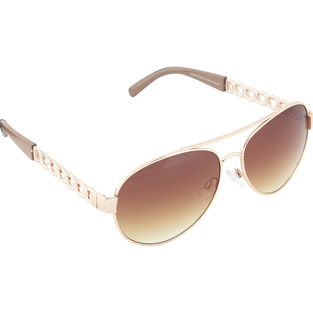 SouthPole Eyewear Metal Aviator Sunglasses Gold Nude SouthPole Eyewear Sunglasses