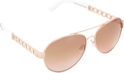 SouthPole Eyewear Metal Aviator Sunglasses Rose Gold/White - SouthPole Eyewear Sunglasses