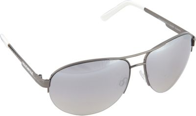 SouthPole Eyewear Semi Rimless Aviator Sunglasses Gun/White - SouthPole Eyewear Sunglasses