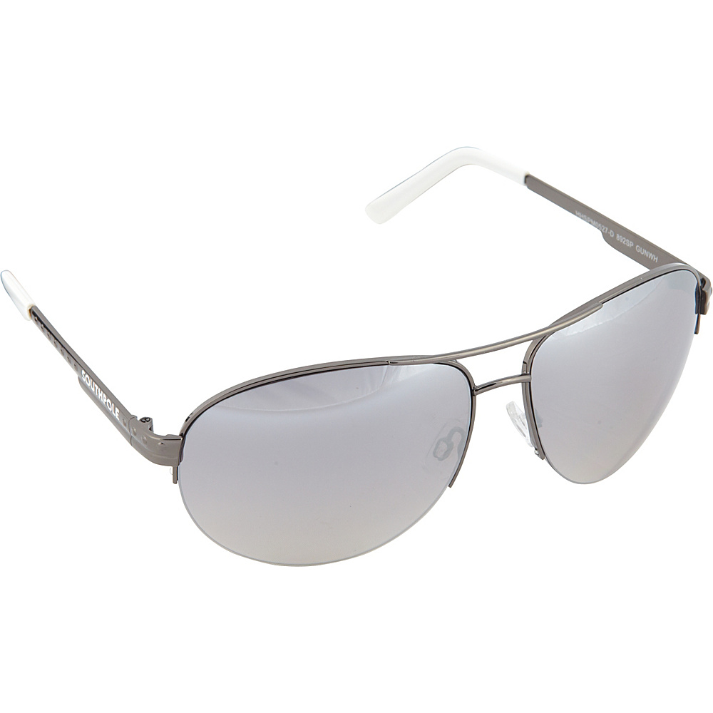 SouthPole Eyewear Semi Rimless Aviator Sunglasses Gun White SouthPole Eyewear Sunglasses