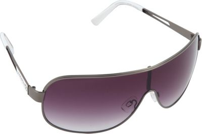 SouthPole Eyewear Metal Shield Sunglasses Gun/White - SouthPole Eyewear Sunglasses