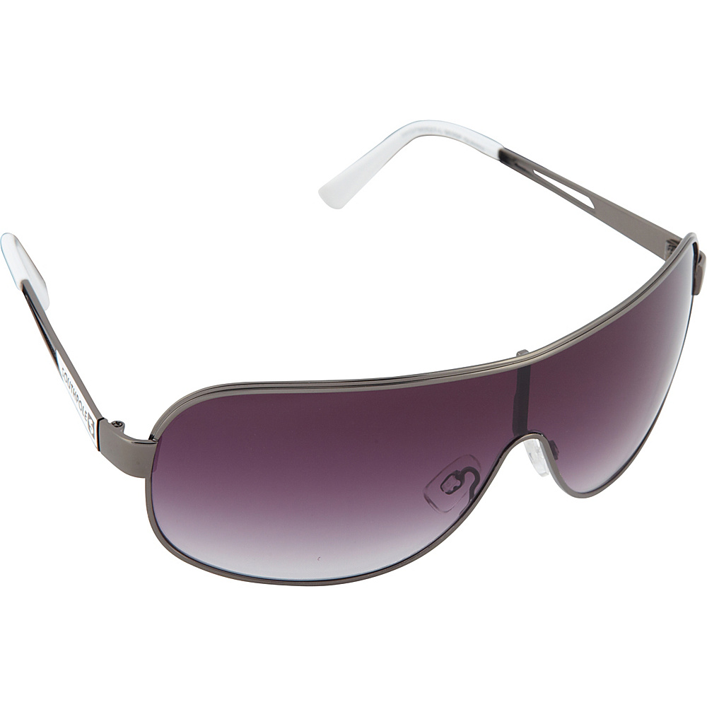 SouthPole Eyewear Metal Shield Sunglasses Gun White SouthPole Eyewear Sunglasses