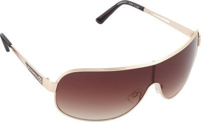 SouthPole Eyewear Metal Shield Sunglasses Gold/Brown - SouthPole Eyewear Sunglasses